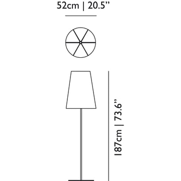 Moooi - Light Shade Shade Stehleuchte - Abmessung