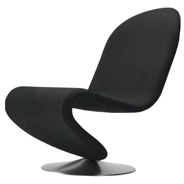 Verpan - System 1-2-3 Lounge Chair Standard, Urban Plus schwarz