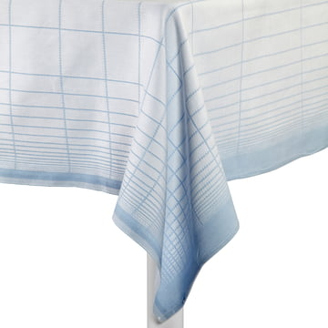 Hay - S&B Tablecloth Double Grid, blau - Tisch