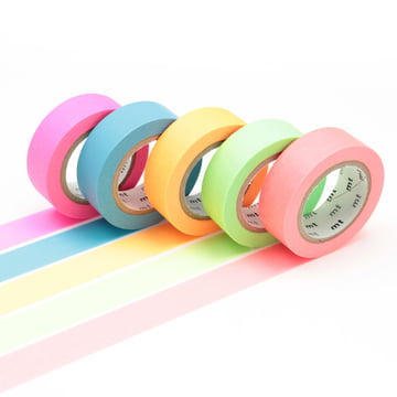 Masking tape - mt Geschenkbox Neon (5er-Set)