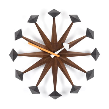 Vitra - Polygon Clock, Nussbaum