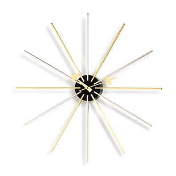 Vitra - Star Clock, Chrom / Messing
