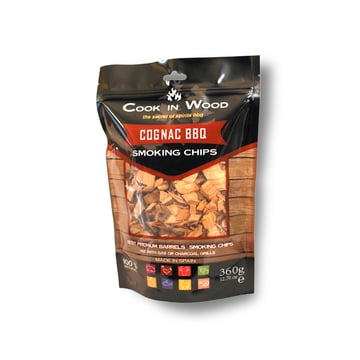 Cognac BBQ Räucherchips (360 g Packung) von Cook in Wood