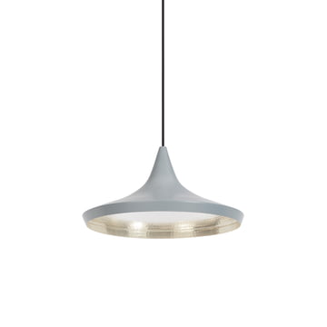 Beat Light Wide Pendelleuchte von Tom Dixon in Grau