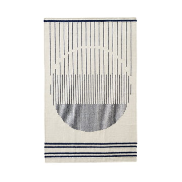 Woud - Raining Circle Rug, 170 x 240 cm, navy