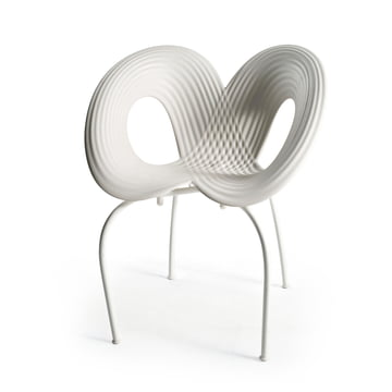 Ripple Chair (Cod. 050) von Moroso in Weiß / Weiß