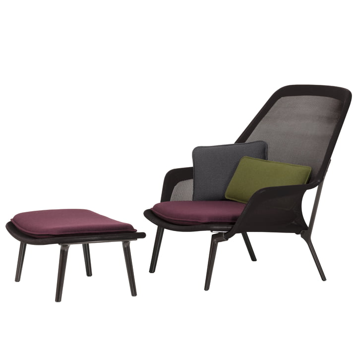 slow chair ottoman vitra shop. Black Bedroom Furniture Sets. Home Design Ideas