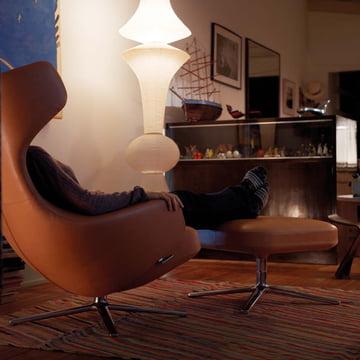 Grand repos sessel ottoman vitra shop for Lesesessel leder