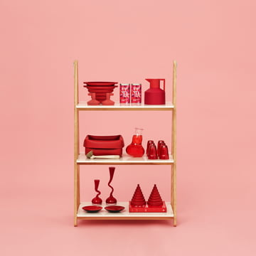 Normann Copenhagen - One Step Up Regal (niedrig) - Ambiente, rot