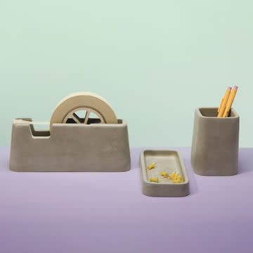 areaware - Concrete Desk Set (3tlg. Set)
