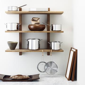 stainless steel topfset von eva trio im shop. Black Bedroom Furniture Sets. Home Design Ideas