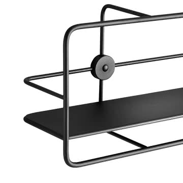 Coupé Horizontal Shelf in Schwarz