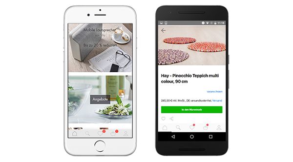 Die Startseite der Connox App