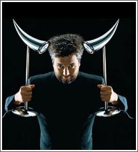Philippe Starck mit Ara Leuchten