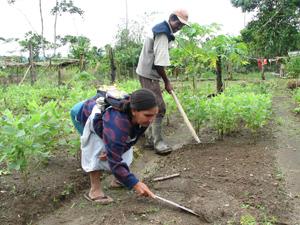 Bauern in Peru
