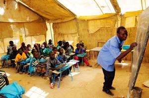 mobile Schule von Nomadenvölkern