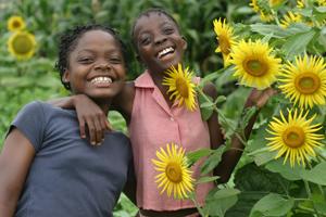 Kinder in Monrovia