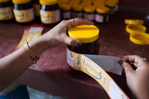 Verkauf von Honig in Nepal
