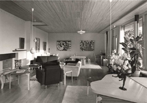 Wohnzimmer Maison Louis Carré, Bazoches-sur-Guyonne, Frankreich, Alvar Aalto, 1956–1961